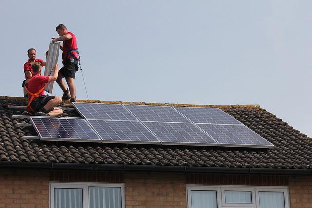 Domestic solar PV installation