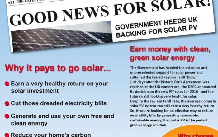 Good news for solar